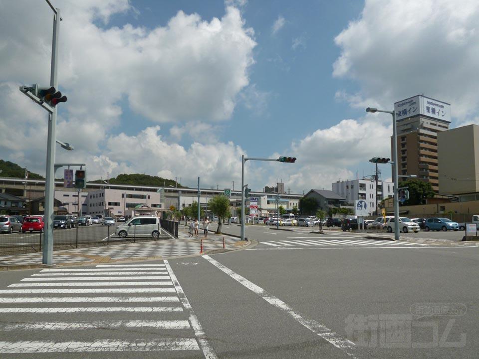 相生停車場線(県道64号線)写真画像 相生停車場線(県道64号線)   相生駅前商店街 相生駅前